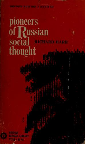 Pioneers of Russian social thought.
