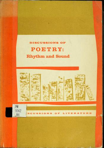 Discussions of poetry