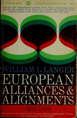 European alliances and alignments, 1871-1890.