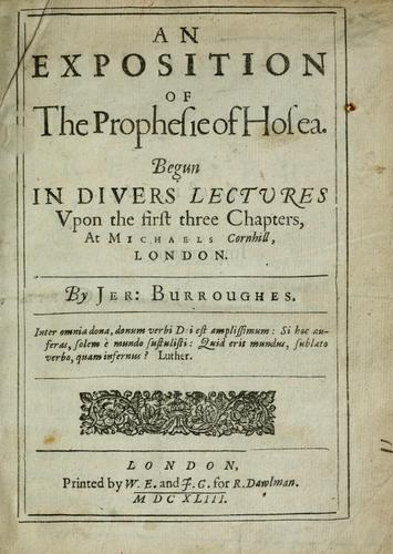 Download An exposition of the prophesie of Hosea