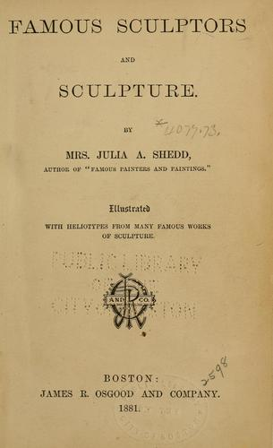 Famous sculptors and sculpture.