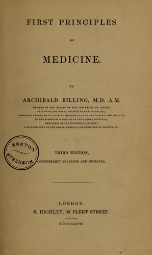 Download First principles of medicine
