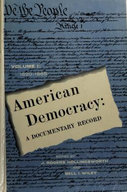 Cover of: American democracy | J. Rogers Hollingsworth