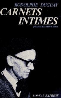 Cover of: Carnets intimes   Duguay, Rodolphe, 1891-1973.