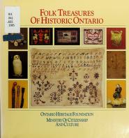 Cover of: Folk treasures of historic Ontario | Terry Kobayashi