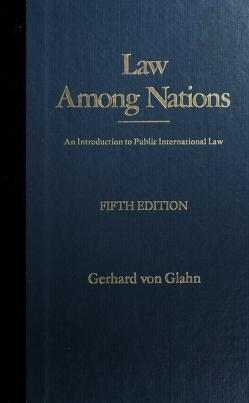 Cover of: Law among nations | Gerhard Von Glahn