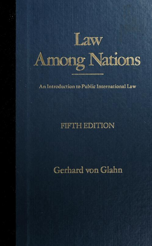 Law among nations by Gerhard Von Glahn