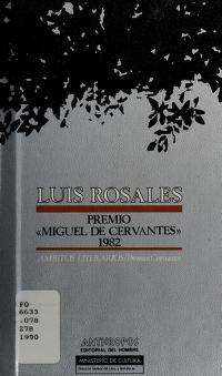 Cover of: Luis Rosales |