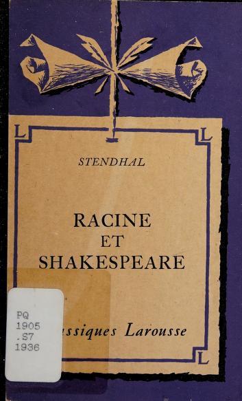 Cover of: Racine et Shakespeare | Stendhal