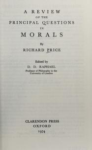 Cover of: A review of the principal questions in morals | Price, Richard