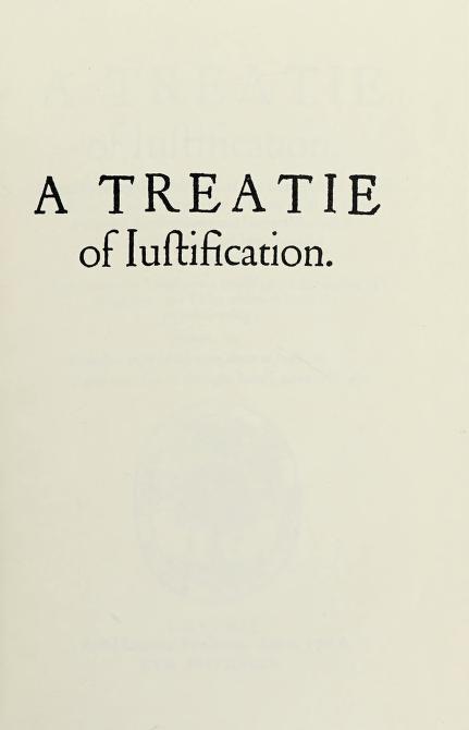 A treatie of justification by Reginald Pole