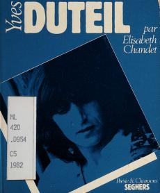 Cover of: Yves Duteil | Elisabeth Chandet