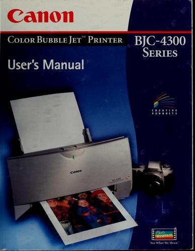 Canon color bubble jet printer BJC-1000 series by Kyanon Kabushiki Kaisha