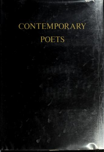 Contemporary poets of the English language. by Rosalie Murphy
