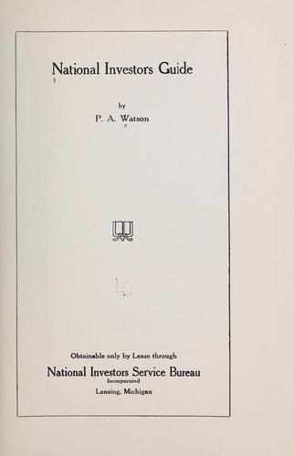National investors guide by P. A. Watson