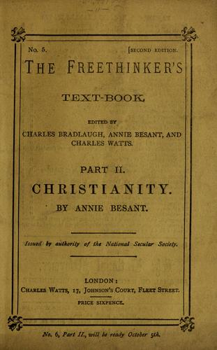 Christianity by Annie Wood Besant