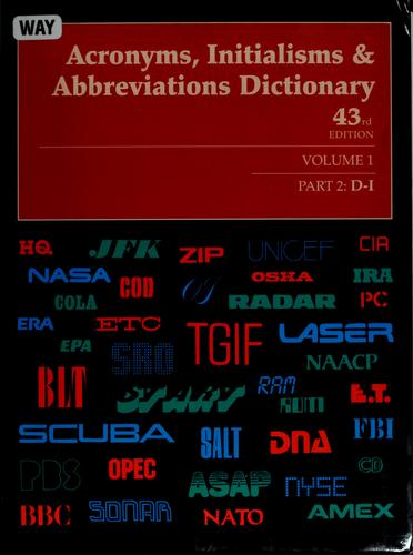 Acronyms, intialisms and abbreviations dictionary by Kristin Mallegg